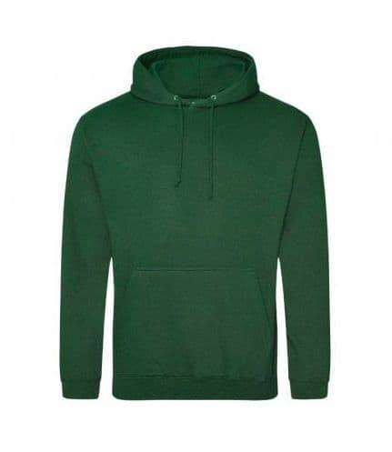 Embroidered Hoodie BOTTLE GREEN