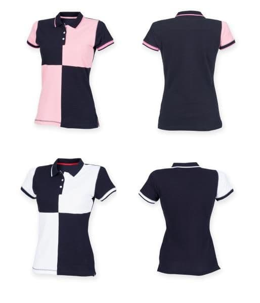 Front Row Women's Short Sleeve Quartered House Polo Shirt T-shirt FR215