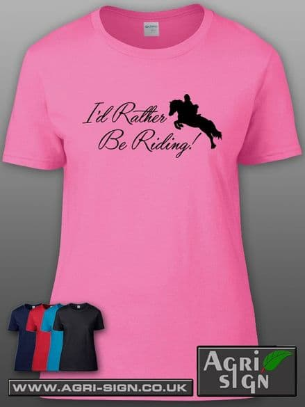 Womens Premium T Shirt - Id Rather Be Riding