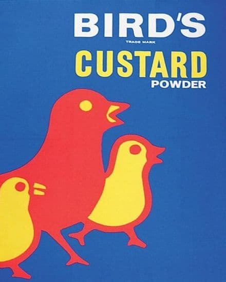 Birds Custard Retro - Metal Advertising Wall Sign