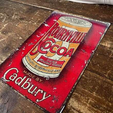 Bournville Cocoa Cadbury  - Metal Advertising Wall Sign