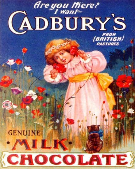 Cadbury's Genuine Milk Chocolate  - Metal Advertising Wall Sign