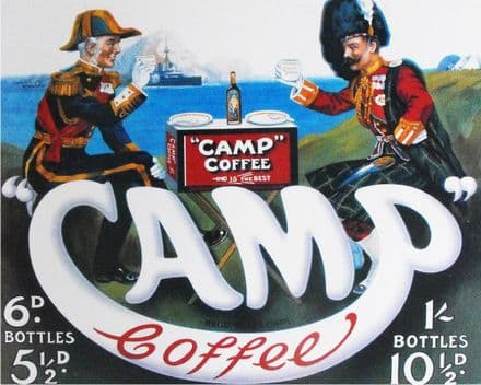 Camp Coffee Advert - Metal Advertising Wall Sign