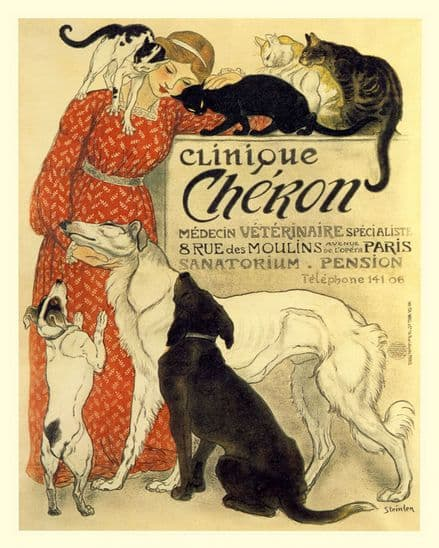 Clinique cheron French Poster - Metal Animal Wall Sign