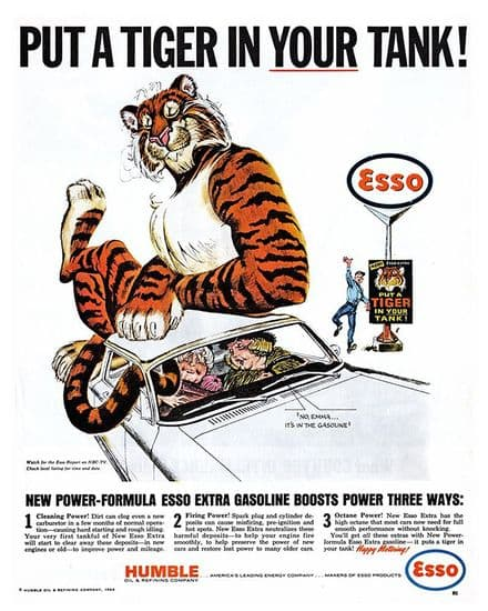 Esso Put a Tiger in Your Tank - Metal Advertising Wall Sign