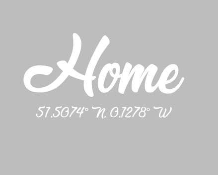 Home Coordinates Personalised - Metal Advertising Wall Sign