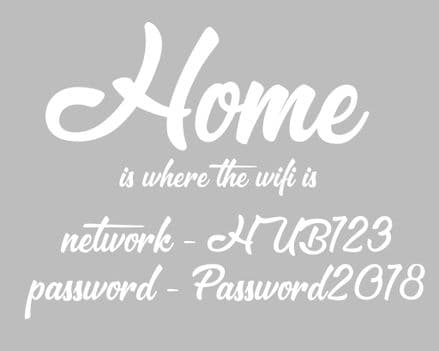 Home Wifi Password Personalised - Metal Advertising Wall Sign