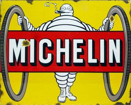 Michelin Tyres - Metal Advertising Wall Sign