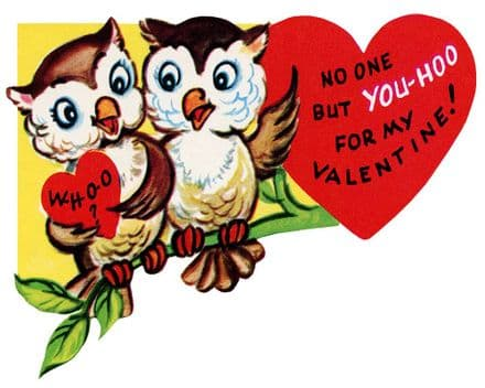No One But You-Hoo For My Valentines - Metal Valentines Wall Sign