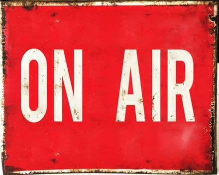On Air , Music Radio - Metal Travel Wall Sign