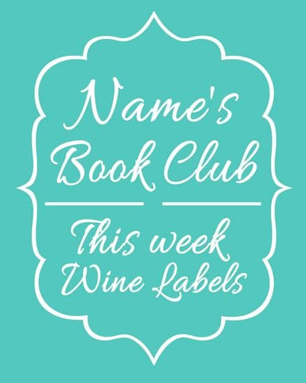 Personalised Any Name Book Club This Week Wine labels - Metal Personalised Art Wall Sign
