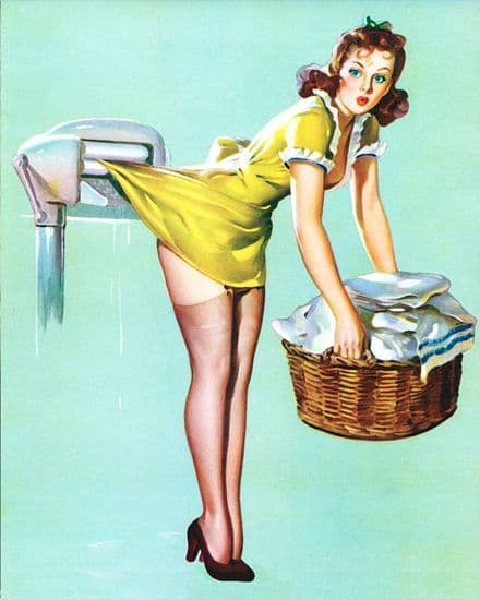 Pin Up Girl Laundry - Metal Personalised Art Wall Sign