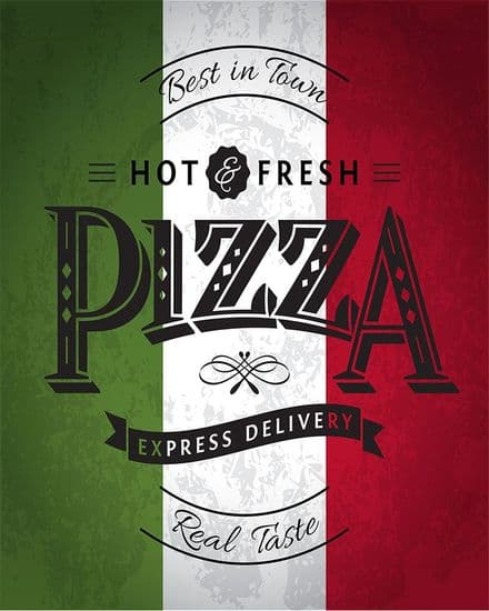 Pizza Italy - Metal Wall Sign