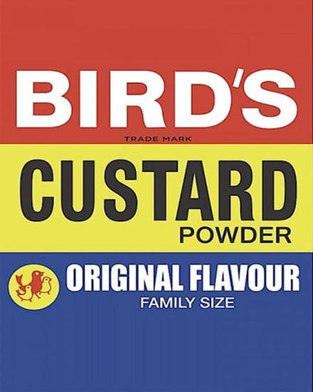 Birds Custard Powder- Metal Advertising Wall Sign - Retro Art