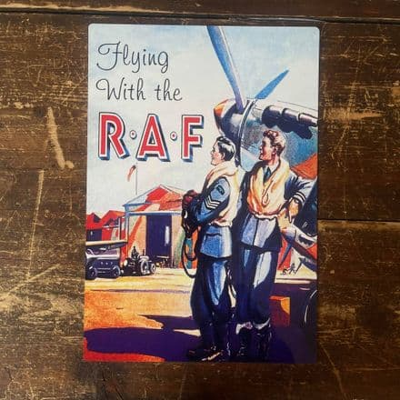 Flying With The R A F - Metal Propaganda Wall Sign