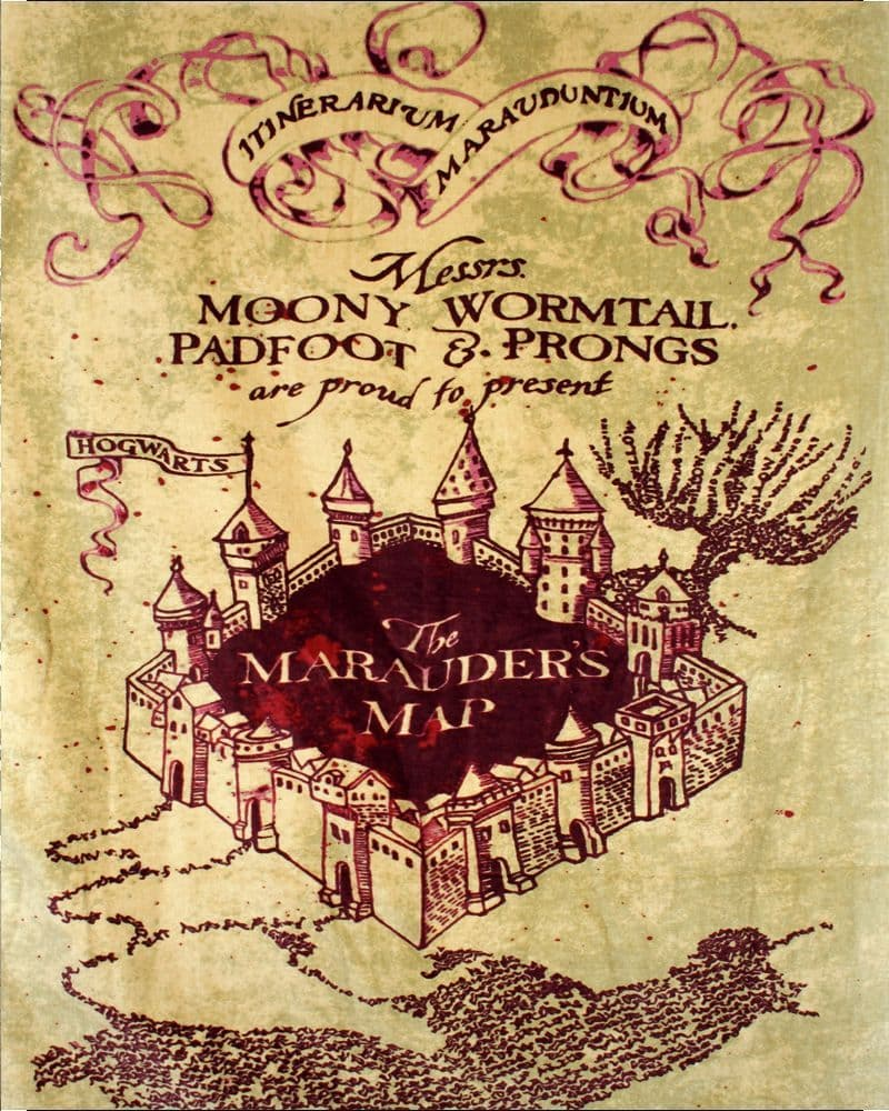 marauders map Harry potter - Metal Movie Wall Sign