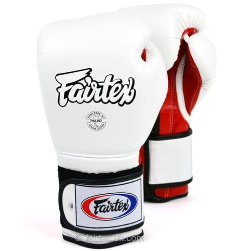 Fairtex Mexican Style Boxing Gloves BGV9 - White