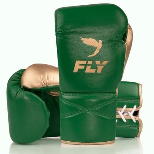 Fly Superlace X Boxing Gloves - Green/Gold
