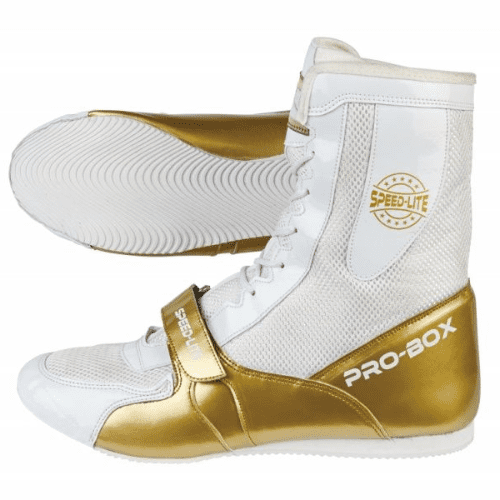 Pro-Box Speed-Lite Junior Boxing Boots - White/Gold