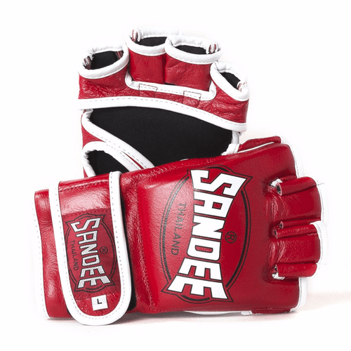 Sandee MMA Fight Gloves Red/White