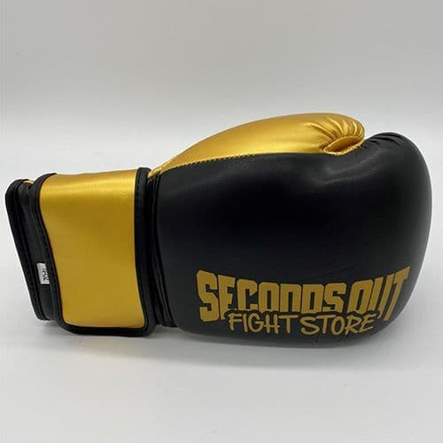 Seconds Out Training Boxing Gloves - Black/Gold