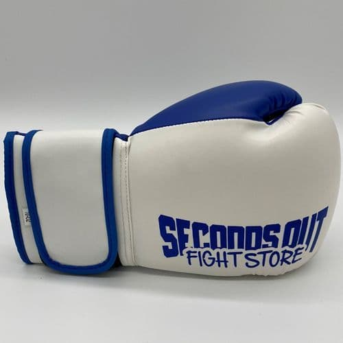 Seconds Out Training Boxing Gloves - White/Blue