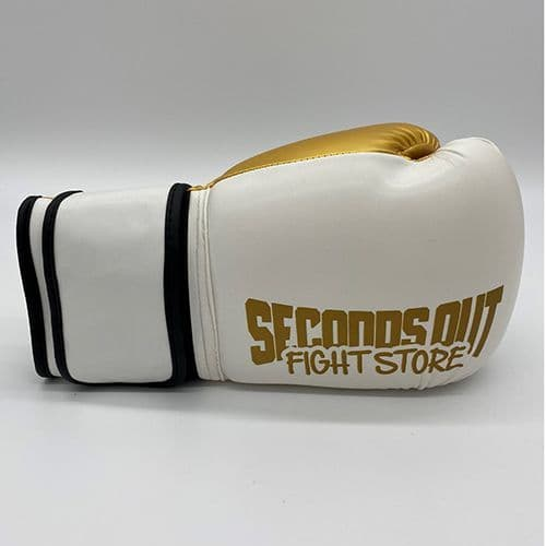 Seconds Out Training Boxing Gloves - White/Gold