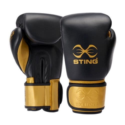 Sting Evolution Boxing Gloves - Black/Gold