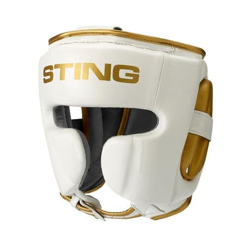 Sting Viper Cheek Head Guard - White/Gold