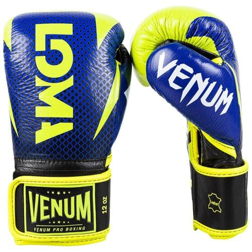 Venum Hammer Velcro Pro Boxing Gloves Loma Edition - Blue/Yellow