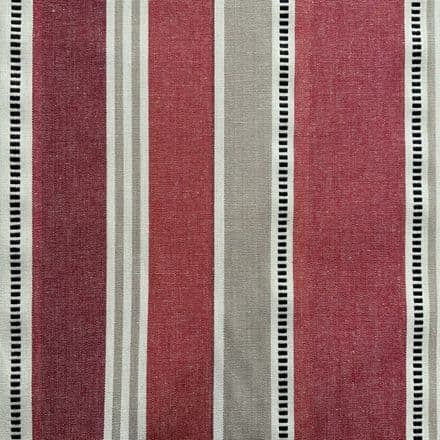 Deckchair Stripe Extra Wide Acrylic Oilcloth in Red