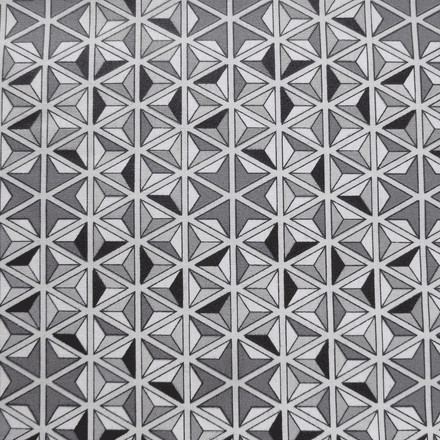 Mosaik Extra Wide Acrylic Oilcloth in Grey