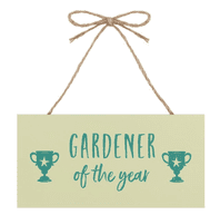 'Gardener Of The Year' Wooden Hanging Sign