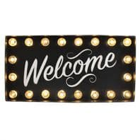'Welcome' Light Up Neon Sign
