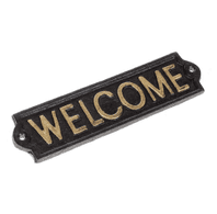 Cast Iron Wall Mounted 'Welcome' Plaque