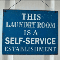 CUTE 'LAUNDRY ROOM' METAL PLAQUE