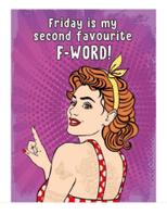 FUNNY AND FUNKY RETRO STYLED METAL SIGN -  'FAVOURITE F-WORD!'