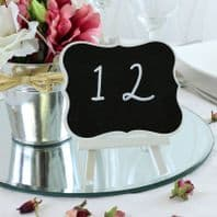 Shabby Chic Chalkboard Sign With White Easel Frame
