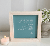SHABBY CHIC 'MY DARLING WHAT IF YOU FLY' WOODEN PLAQUE