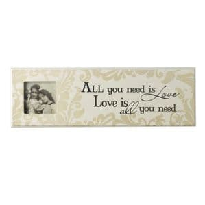 Vintage Style  'All You Need Is Love' Photo Frame Wall Plaque