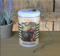 VINTAGE STYLE METAL 'GARDEN STRING IN A TIN'