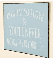 Vintage Styled Metal Plaque - 'Do What You Love'