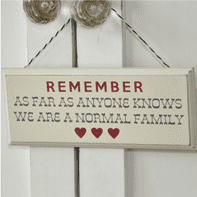 WOODEN SHABBY CHIC 'FAMILY' PLAQUE