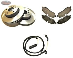 DISCOVERY 3/4 -TDV6 - REAR - QUALITY PEPLACEMENT - DISCS , PAD AND SENSOR SET