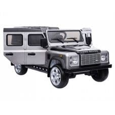 Kids Ride On SILVER Land Rover Defender - 12v Working Led and MP3 Connectivity