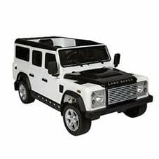 Kids Ride On  WHITE Land Rover Defender - 12v Working Led and MP3 Connectivity
