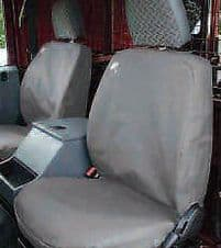 LAND ROVER DEFENDER GREY WATERPROOF SEAT COVERS FRONT ROW 3 SEATS - DA2815GREY