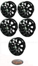 """LAND ROVER DEFENDER SAWTOOTH STYLE ALLOY WHEEL BLACK 16""""X 7"""" - SET OF 5"""