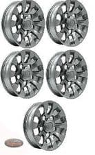 """LAND ROVER DEFENDER -  SAWTOOTH STYLE ALLOY WHEEL SILVER 16""""X 7"""" - SET OF 5"""