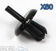 Land Rover Defender Wheel Arch Clips Mud Spat Eyebrow Rivet - AFU1075 X 60